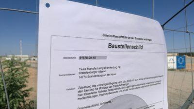 Brandenburger Umweltamt fühlt sich mit Tesla überfordert