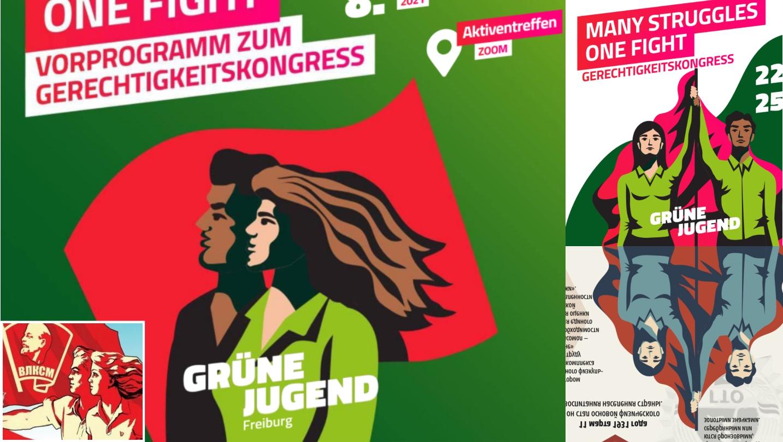 Kommunistische Propaganda-Symbolik: Grüne Jugend nutzt Plakate sowjetischer Massenorganisation