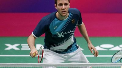 Positiver Test bei Lamsfuß: Kein Badminton-Finale im Doppel