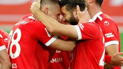 Düsseldorf mit emotionalem Last-Minute-Sieg gegen Karlsruhe