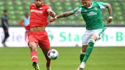 Werder erkämpft Punkt gegen Leverkusen und stoppt Talfahrt