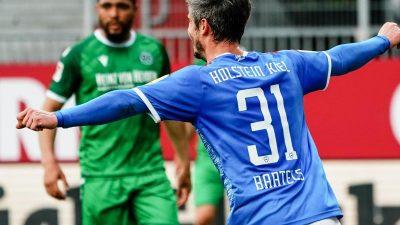 Sieg gegen Hannover: Holstein Kiel rückt auf Platz zwei vor