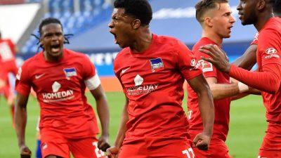 Heldenhaft: Ngankam schießt Hertha zum Sieg gegenSchalke