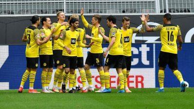 BVB schließt Saison auf Rang drei ab: 3:1 über Leverkusen