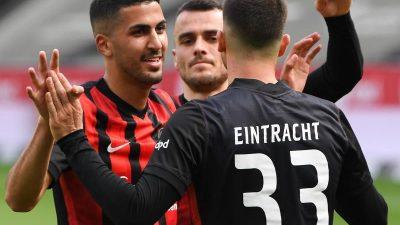 Eintracht siegt zum Abschied von Trainer Hütter