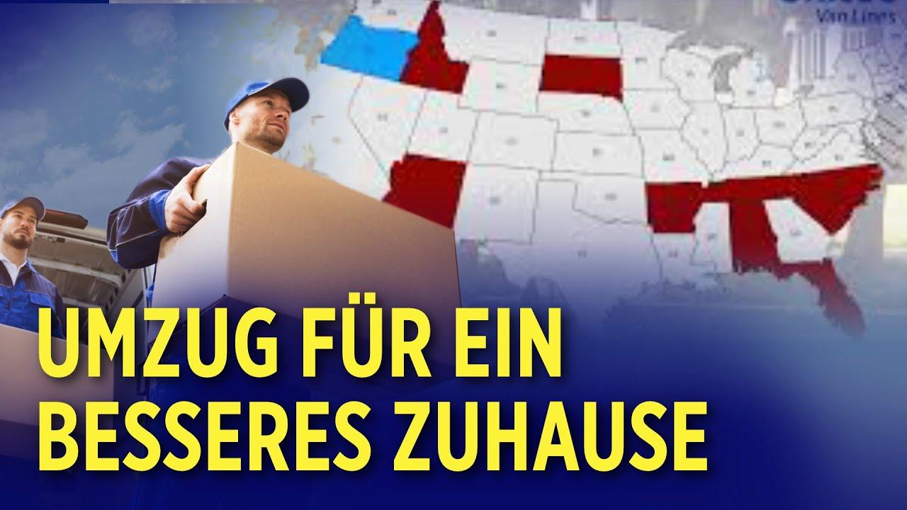 """Wegen Einkommensteuer: Amerikaner ziehen von den """"blauen"""" in die """"roten"""" Staaten um"""