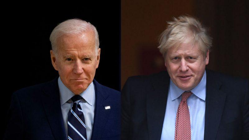 Europareise des US-Präsidenten: Biden und Johnson bemühen sich um gute Stimmung