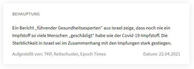 """Behauptung von """"correctiv"""" zum IPC-Bericht"""