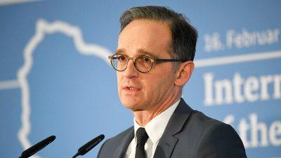 Maas: Zweite Libyen-Konferenz soll Übergangsregierung den Rücken stärken