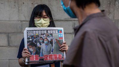 """Hongkonger: Erneut prominenter Journalist von Zeitung """"Apple Daily"""" festgenommen"""