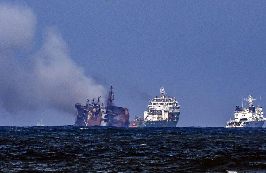 Brände auf Schiffen: Untergang vor Sri Lanka und im Golf von Oman