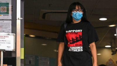 Hongkonger Demokratie-Aktivistin Chow erneut festgenommen
