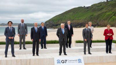 """G7-Staaten üben scharfe Kritik an China und Russland – """"Wir werden unsere Werte vorantreiben"""""""