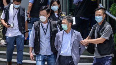 """Zeitung """"Apple Daily"""" vor dem Aus – Mitarbeiter festgenommen, PC´s beschlagnahmt, Konten gesperrt"""