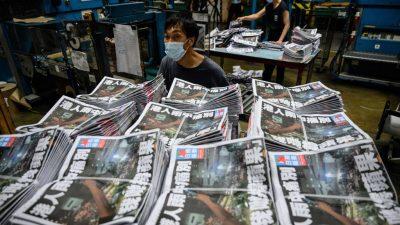 """""""Apple Daily"""" muss schließen: Biden beklagt Pekings """"zunehmende Unterdrückung"""" in Hongkong"""