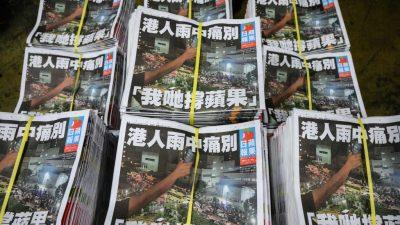 """Führender Journalist von """"Apple Daily"""" festgenommen"""