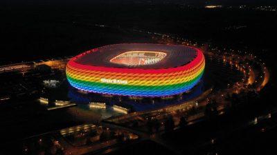 Bayerische Politiker für regenbogenfarbenes Olympiastadion im EM-Spiel gegen Ungarn