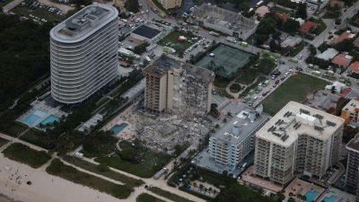 Verbleib von 99 Menschen nach Teil-Einsturz von Hochhaus in Florida weiter unklar