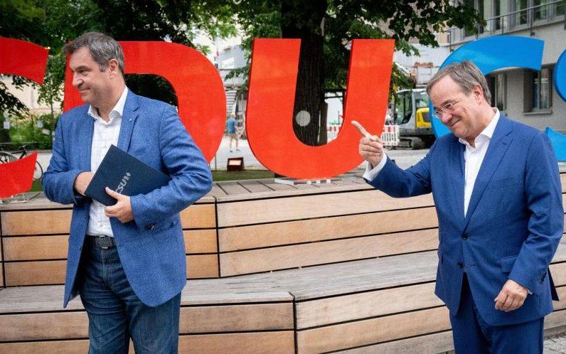 """""""Für ein modernes Deutschland"""": Laschet und Söder stellen gemeinsames Wahlprogramm vor"""