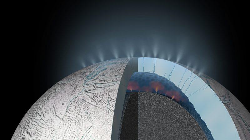 Methan-Fontänen auf Saturnmond Enceladus – Mögliche Anzeichen von Leben?