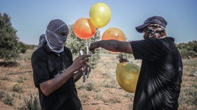 Israel reagiert mit Luftangriffen auf Brandballons aus dem Gazastreifen