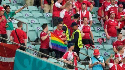 UEFA prüft Beschlagnahmung von Regenbogenfahne in EM-Stadion in Baku