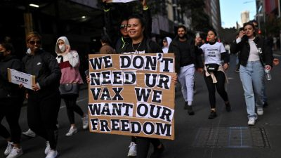 Massenproteste in Australien gegen Corona-Politik der Regierung