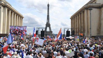 LIVE: Großdemos in Frankreich gegen Corona-Impfpflicht