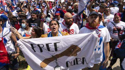 USA verhängen nach Unterdrückung von Protesten in Kuba weitere Sanktionen