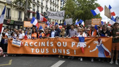 Erneut Groß-Demonstrationen in Frankreich gegen Corona-Gesundheitspass und Impfpflicht