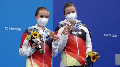 Erste deutsche Medaille in Tokio für Wasserspringerinnen – Slalomkanuten im Halbfinale