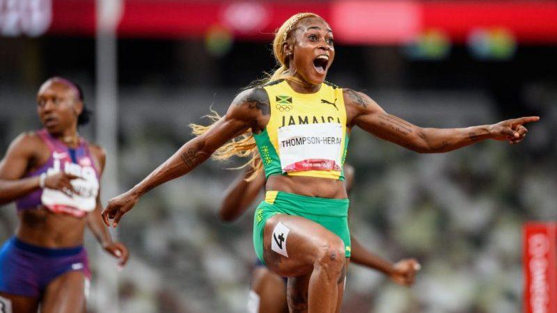 Thompson-Herah läuft über 100 Meter neuen Olympia-Rekord