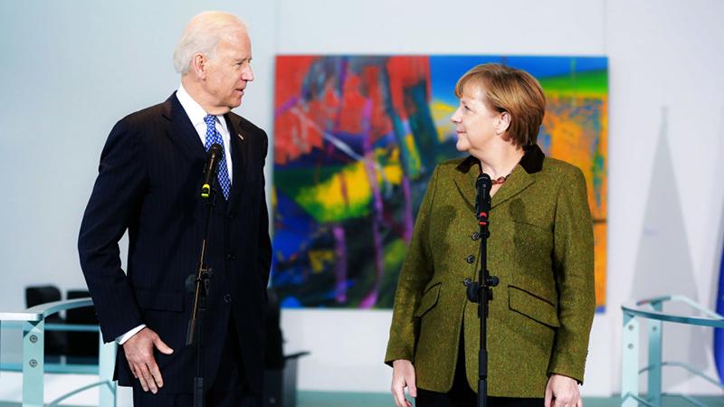 Merkel und Biden demonstrieren Geschlossenheit trotz Differenzen