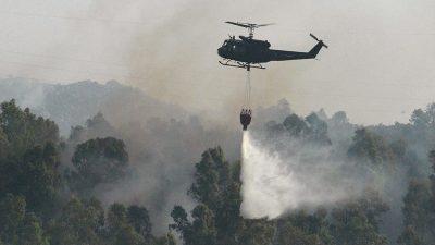 Brände wüten auf italienischer Urlaubsinsel Sardinien
