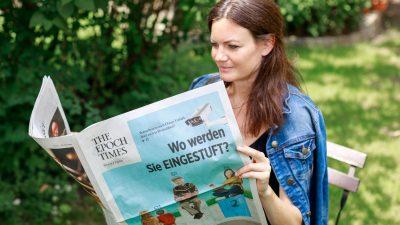 Die erste gedruckte Epoch Times Wochenzeitung ist jetzt erhältlich!