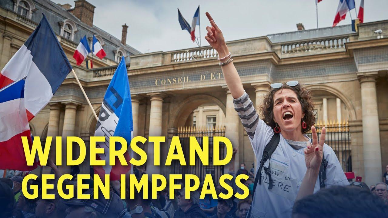 Frankreich: Zehntausende protestieren gegen Einführung von Impfpässen