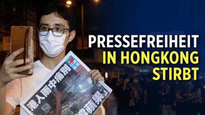 Pressefreiheit in Hongkong: Reporter ohne Grenzen sprechen von besorgniserregender Situation