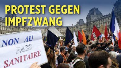 """Frankreich: Landesweite Proteste gegen Impfpflicht und """"Gesundheitspass"""""""