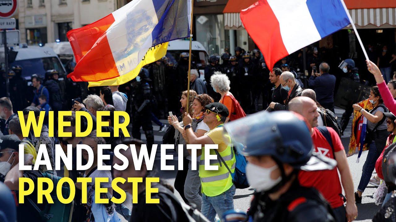 Frankreich: Franzosen protestieren erneut gegen Gesundheitspass