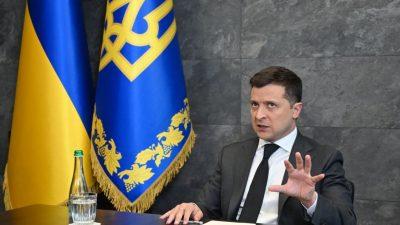 """Selenskyj wirft Russland """"Gas-Aggression"""" gegenüber Europa vor"""