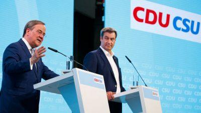 Deutsche halten Söder für schlechten Unterstützer von Laschet