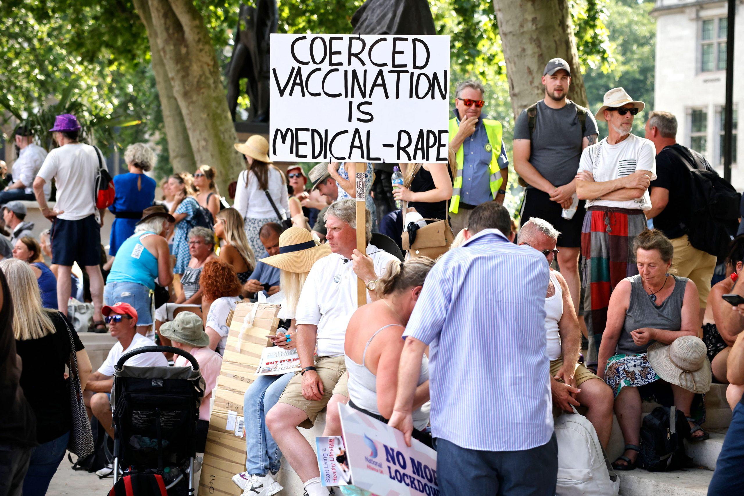 Londoner protestieren erneut gegen Impfpass-Einführung