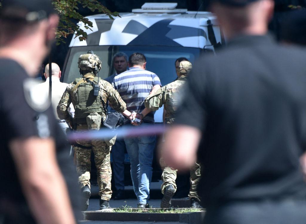 Ukrainische Polizei nimmt Ex-Soldaten nach Handgranaten-Drohung fest