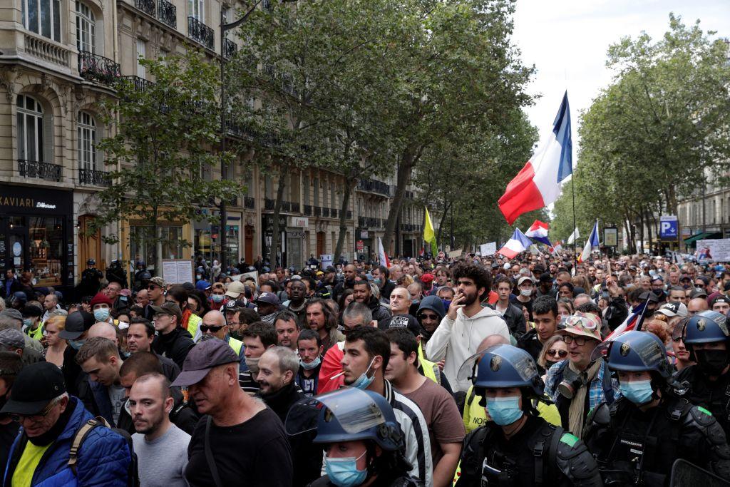 Erneut Massendemonstrationen gegen Corona-Maßnahmen in Frankreich