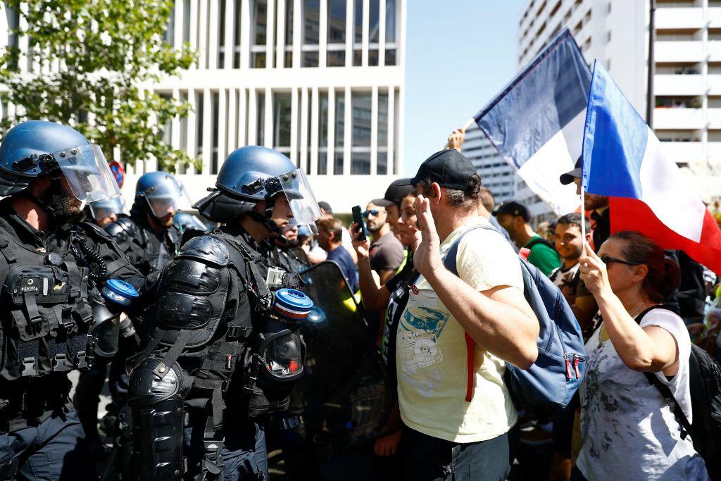 215.000 Demonstranten: Erneute Proteste in ganz Frankreich gegen verschärfte Corona-Regeln