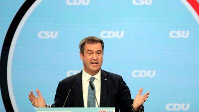 Union: Söder schließt fliegenden Wechsel aus – und Kanzlerkandidatur in vier Jahren
