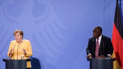 Merkel für Investitionen für erneuerbare Energien in Afrika