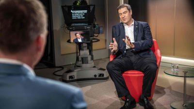 Söder will Warnung vor Linksruck in den Mittelpunkt des Wahlkampfs rücken