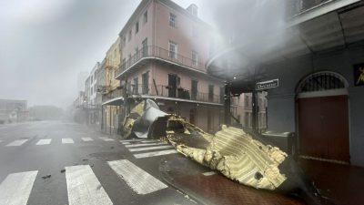 Hurrikan Ida legt Stromversorgung in ganz New Orleans lahm