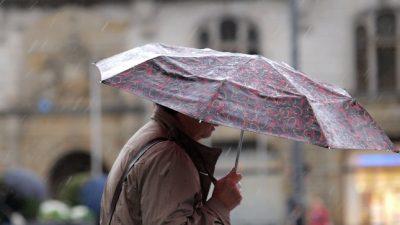 Wetterdienst warnt vor Dauerregen im Osten Deutschlands